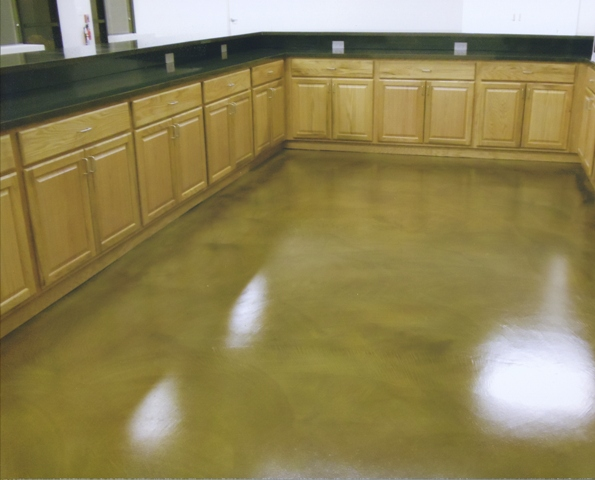 Sundek stained concrete colored concrete dyed concrete - Interior concrete floor stain colors ...