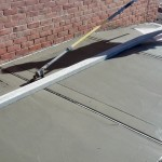 Cutting the sidewalk joint