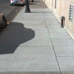 a year old sidewalk