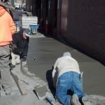 Oncenter sidewalk pour