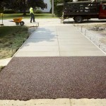 Concrete and Flexi-Pave diffusion strip