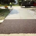 Concrete and Flexi-Pave diffusion strip