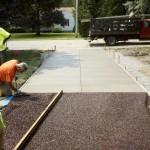 Flexi-pave and concrete driveway