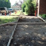 Forming for concrete sidewalk
