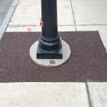 Flexi-Pave around a light pole